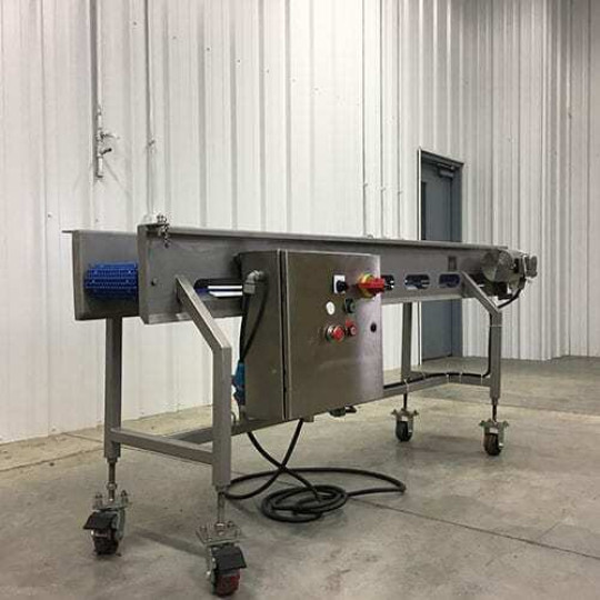 Portable Belt Conveyor with Adjustable Casters – In Stock