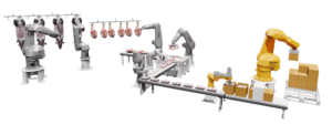 Integrated pork processing line example